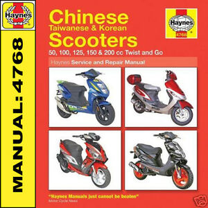 scooter manual haynes baotian bt49qt bt50 bt50qt branson bs50 bs125 rh ebay co uk Scooter Baotian BT 49 Qt18 Baotian Scooter Parts