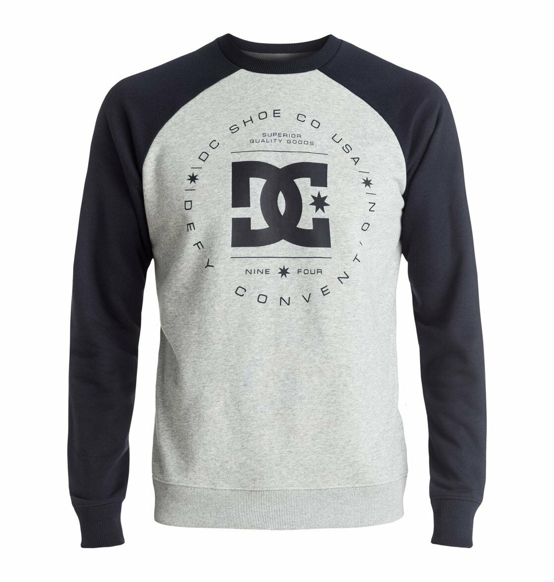 DC REBUILT CREW RAGLAN adult - Sweatshirt  CLEARANCE DARK INDIGO HEATHER GREY LG