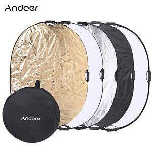 Andoer 90*120cm 5 in 1 Circular Photo Photography Studio Video Light Reflector