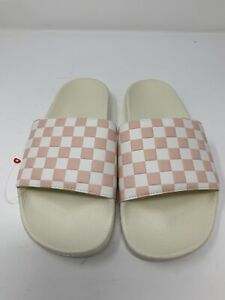 NEW VANS Pearl White Pink Checkerboard