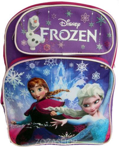 "Disney Frozen Large Backpack 16/"" Elsa Anna Girls School bag girls NEW HOT!!"