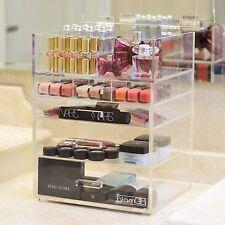 [GLAMQB] Clear Acrylic Cosmetics & Make-up Vanity Organizer - LuxeQB
