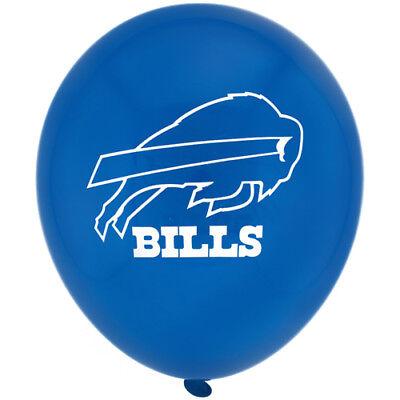 NFL BUFFALO BILLS LATEX BALLOONS 6 ~ Birthday Party Supplies Helium Decoration