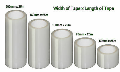Polytunnel and Greenhouse Repair Tape 25m x 100mm Extra Strong Clear Polythene
