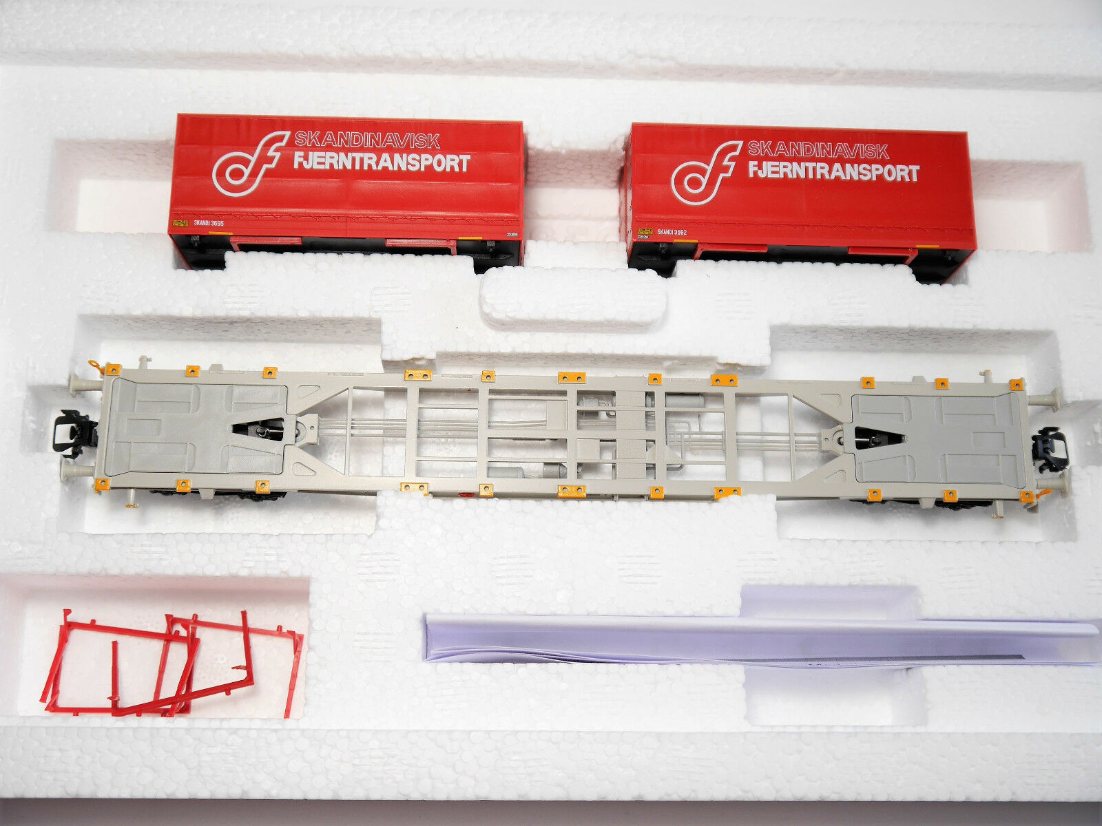 RIV container carrello portante Kaffekompagni fjerntransport    47083-01 1:87 h0 BXD