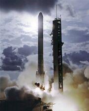 New 8x10 NASA Photo: Delta Rocket Launch of Orbiting Solar Observatory - 1975