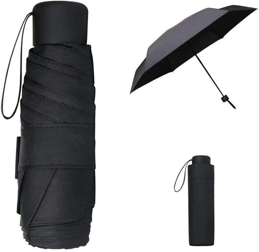 Vicloon Mini Umbrella, Pocket Umbrella, 6 Ribs Lightweight Compact Folding
