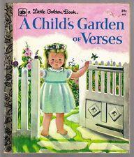 Vintage Children's Little Golden Book ~ A CHILD'S GARDEN OF VERSES Eloise Wilkin