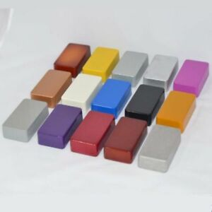 2-x-1590b-stile-PRESSOFUSO-ALLUMINIO-BOX-chassis-vernice-colore-DIY-chitarra-pedal