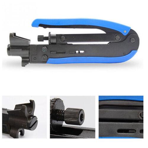 Coaxial Cable Crimper Compression Tool,RG59 RG6 RG6Quad RG11 F Connector,CTL-104