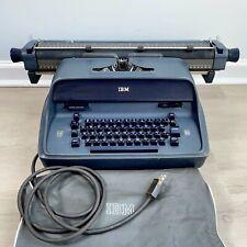 Vtg Blue Carriage Ibm Model 11 Electric Typewriter Cover Works Needs Ribbon