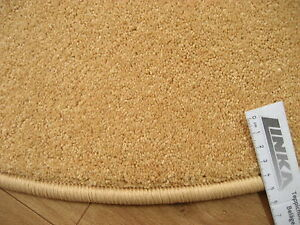 6628-guenstig-runder-Teppich-90-cm-Kettelteppich-rund-Gelb-Mais-Kraeuselvelours