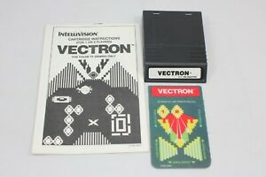 Vectron-Intellivision-White-Label-Game-Cartridge-w-Manual-and-1-Overlay