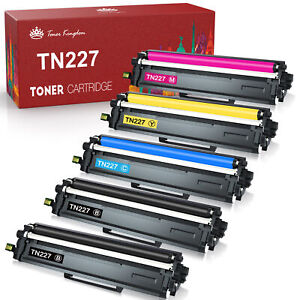 5PK For Brother TN227 TN223 Toner HIgh Yield MFC-L3750CDW HL-L3230CDW WITH CHIP