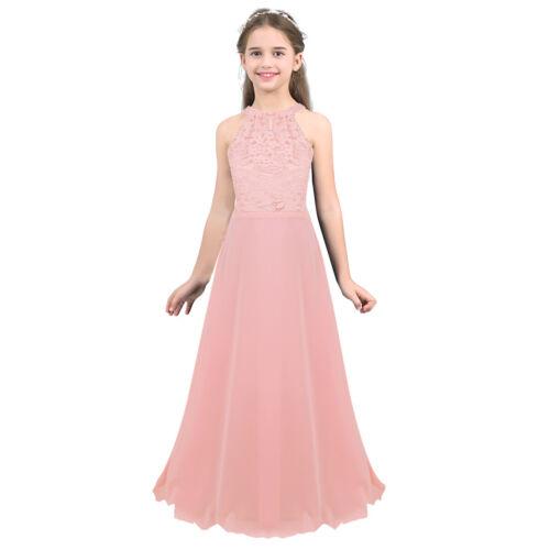 Flower Girl Princess Dress Party Wedding Bridesmaid Pageant Formal Long Dresses
