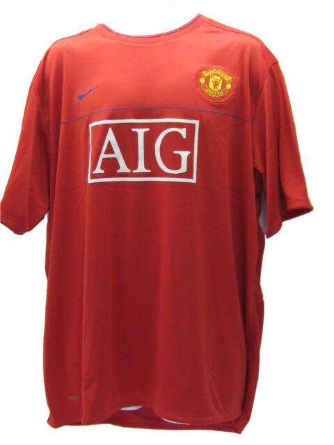 Nike Manchester United Entraînement Football T-Shirt avant Match Aig Rouge XXL