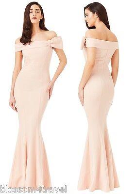 Goddiva Black Lace Open Back Frill Fishtail Maxi Evening Dress Prom Ball RRP £65