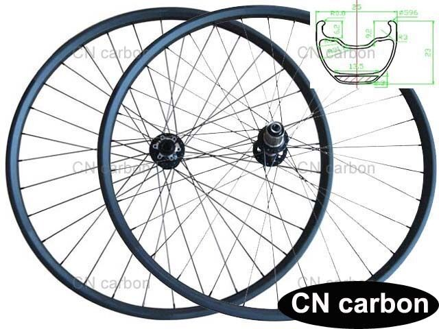 650B New Mountain Bike wheel set carbon fiber MTB wheel 25mm width thru axle hub
