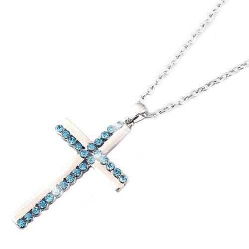 Cadena collar cadena breve cadena cruzada con remolque cruz pedrería