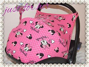 Car Seat Hood Sun Canopy Minnie Mouse Pink
