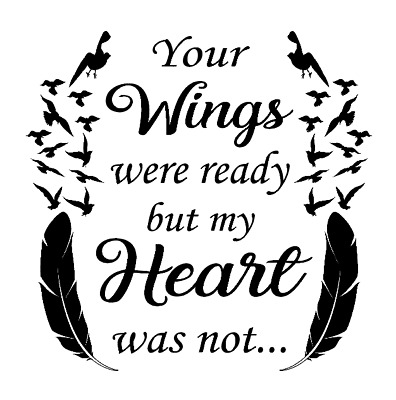 YOUR WINGS WERE READY VINYL DECAL STICKER FOR IKEA RIBBA BOXFRAME DIY GIFT