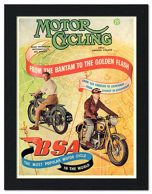 BSA Golden Flash advertising vintage retro signs repro wall art