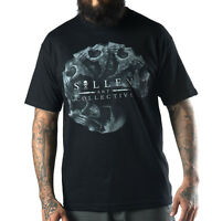 Sullen Clothing Mens Black Morph Skull T Shirt Size Small