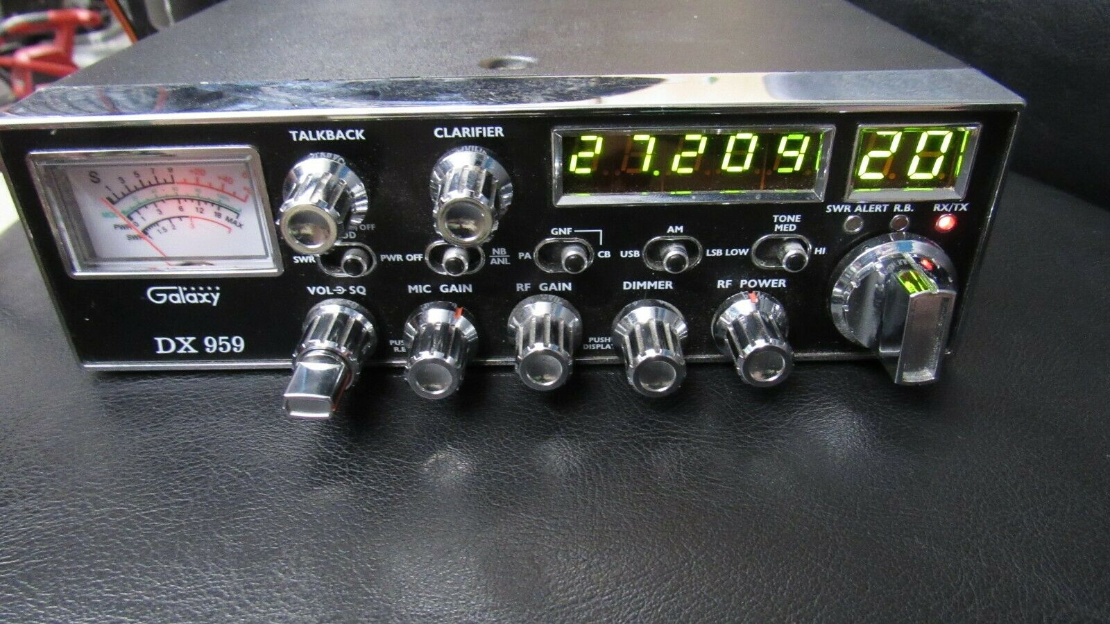 Galaxy DX 959 CB Radio AM/SSB 40 Chan. With Mic Tested Working. Available Now for 199.99