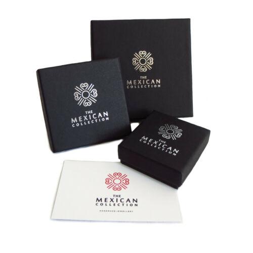 Disco de círculo martillado pendientes de plata 925 en una caja de regalo