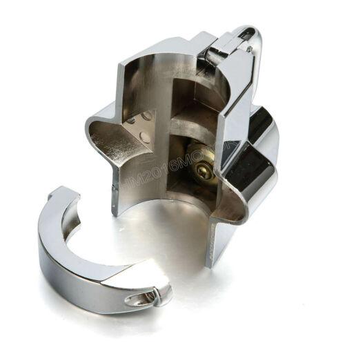 Chrome Helmet Lock Anti-theft for Harley Road Super Street Low Glide FXD FLH