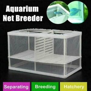 Fish-Tank-Aquarium-Net-Case-Breeder-Incubator-Breeding-Fr-Isolation-Fry-Box-L1Z2