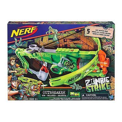Nerf Zombie Strike outbreaker Bow Toy Gun Blaster Chicos Chicas 8 Play Ballesta