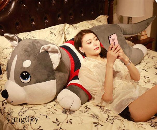 @@Big Husky Siberian Dog Plush Soft Toy Stuffed Animal Doll Pillow Xmas Gift 63