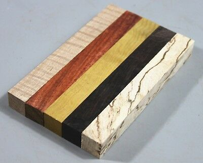 5PCS Turning Blanks 5-kinds Wood Pen//Gun Handles//Crochet Hook 127mmx15mmx15mm