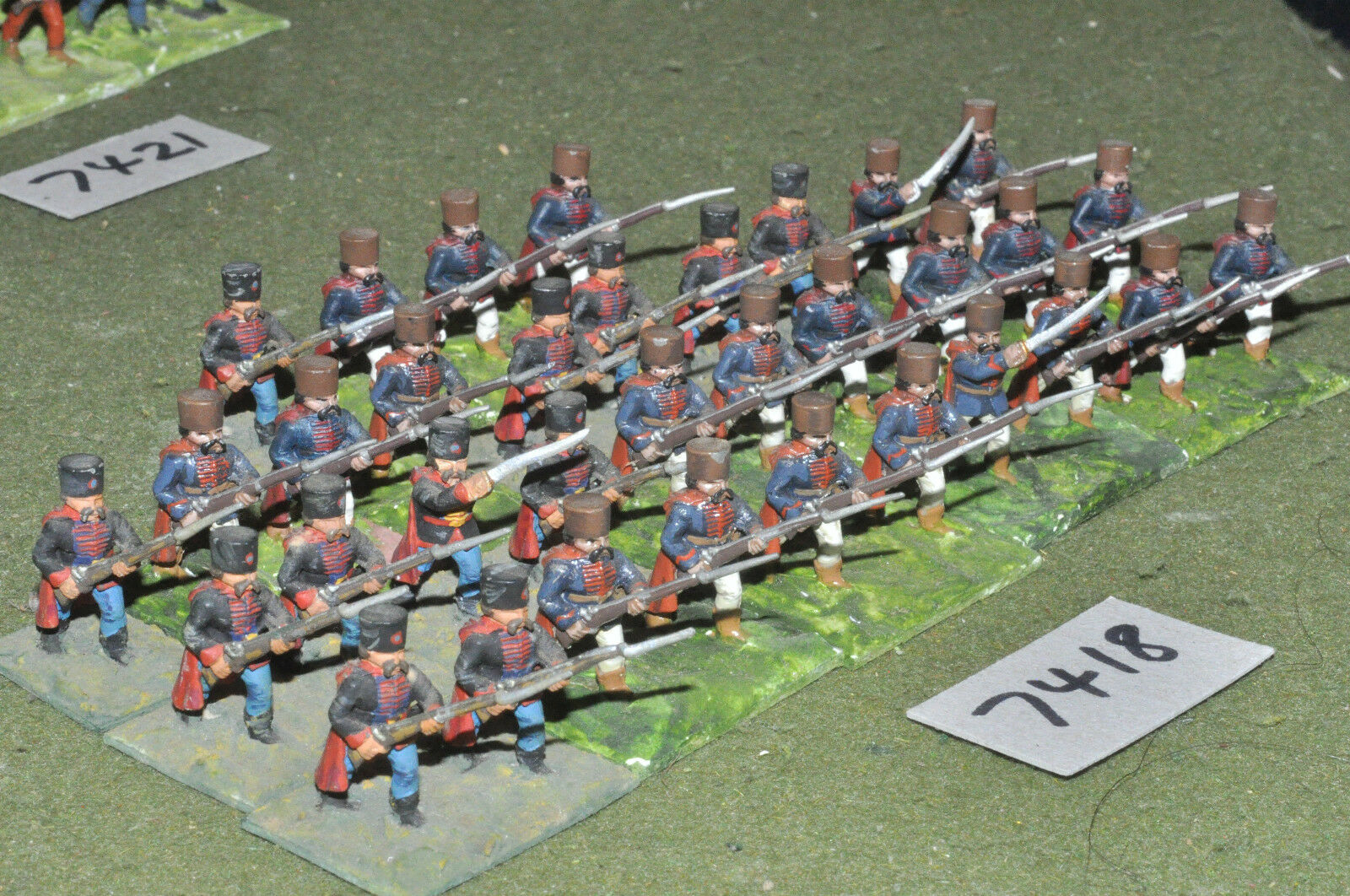 25mm 7YW   Austrian - seven years war grenzers 32 figures metal - inf (7418)