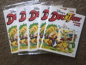 NEW Lot 5 Vintage Panini Disney Duck Tales Sticker Album 1987 3 Sticker Packs