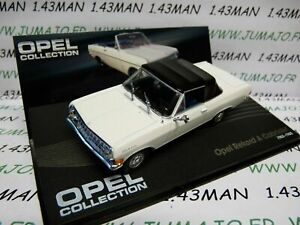OPE67R-voiture-1-43-IXO-OPEL-collection-REKORD-A-cabriolet-1963-1965-blanche