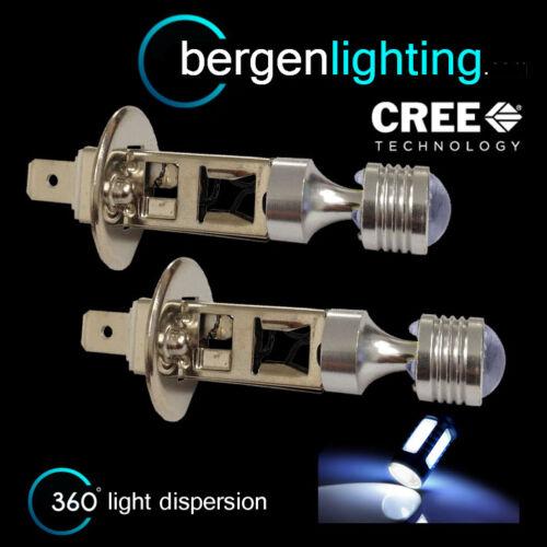 2X H1 WHITE 6 CREE LED FRONT MAIN HIGH BEAM LIGHT BULBS CAR KIT XENON MB503102