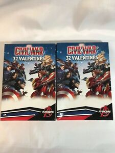 Valentines-Day-Cards-2-Boxes-of-32-Marvel-Avengers-Captain-America-Civil-War