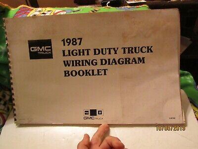 1987 GMC Truck Light Duty Truck Wiring Diagram Booklet by GMC Truck | eBayeBay