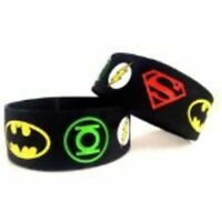 Justice League Set Of (2) Silicone Wristbands