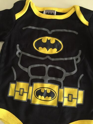 Licensed Batman Muscle Long Sleeve Cotton Baby Boys Bodysuit 3m.6m.9m.12m18m.24m