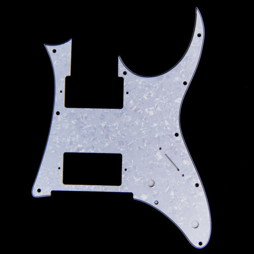 Custom Guitar Pick Guard for Ibanez RG 350 DX 2-Pickup 4ply White Pearloid