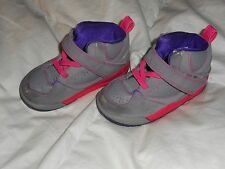 best loved 52aa0 fe2e2 Girl Nike Jordan Flight 45 High Gray Pink Purple Shoes Size 7C Used