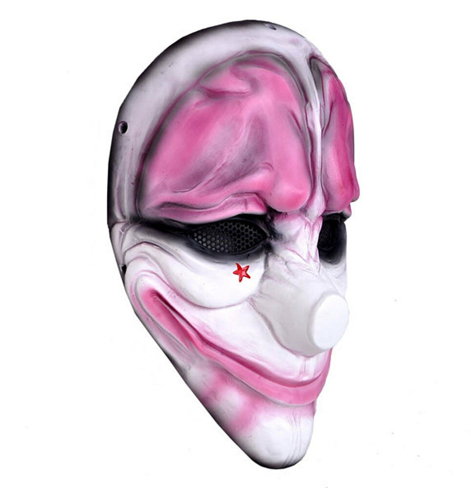 Paintball Airsoft Wire Mesh Full Face Predection PAYDAY HOXTON Joker Mask Prop