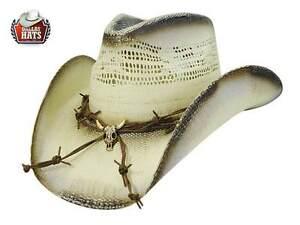 Rider Hats Ghost Western Paglia Dallas Cappello q0wxa6PtXW