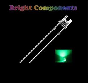 20-x-Green-LED-3mm-Flat-Top-Ultra-Bright-12000mcd-UK-1st-CLASS-POST