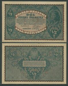 Poland 1/2 Marek 7-02-1920 Sc Pick 30