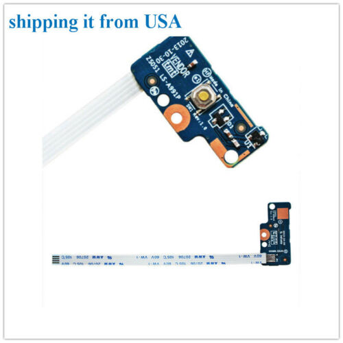 DC Power Button Board Switch In Cable For HP 15t-r100 CTO 15-r134cl 15-r136wm US