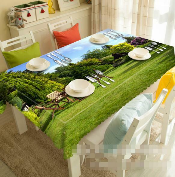3D Park Tree 5 Tablecloth Table Cover Cloth Birthday Party Event AJ WALLPAPER AU